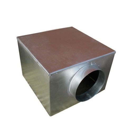 Metal 450mm Plenum Box with 200mm Side Entry Spigot with Spot Welded and Primed Seam Joints